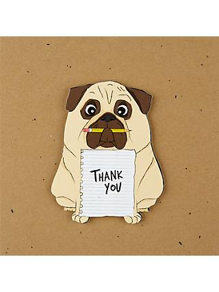 Tache Crafts Thank You Pug Card