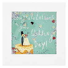 Buy James Ellis Stevens Wedding Cake & Couple Shakies Card Online at johnlewis.com