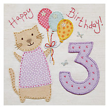 Buy Blue Eyed Sun 3rd Birthday Card Online at johnlewis.com