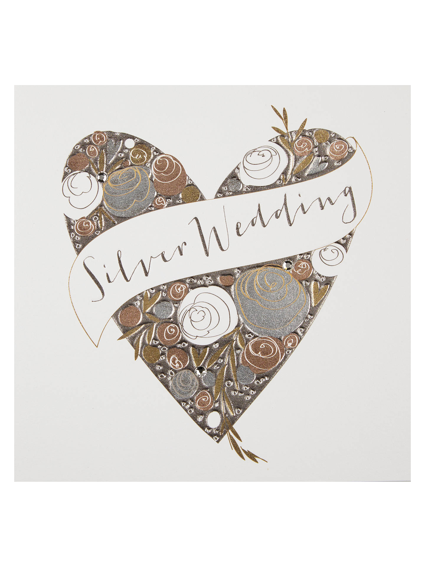 belly button designs silver wedding anniversary card at