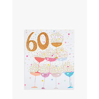 60th blue martini flip flops jlp birthday shop t woodmansterne champagne glasses with sprinklers 60th birthday card stopboris Image collections