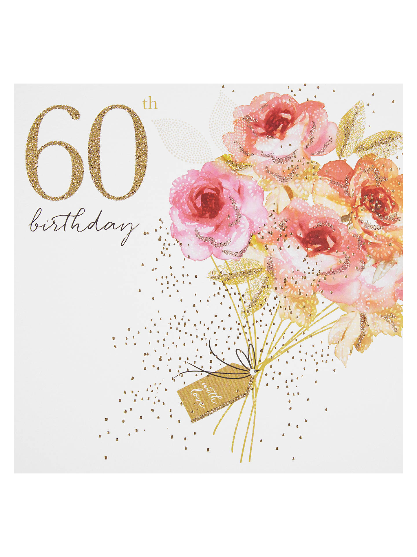 Portfolio Bouquet 60th Birthday Card At John Lewis Partners