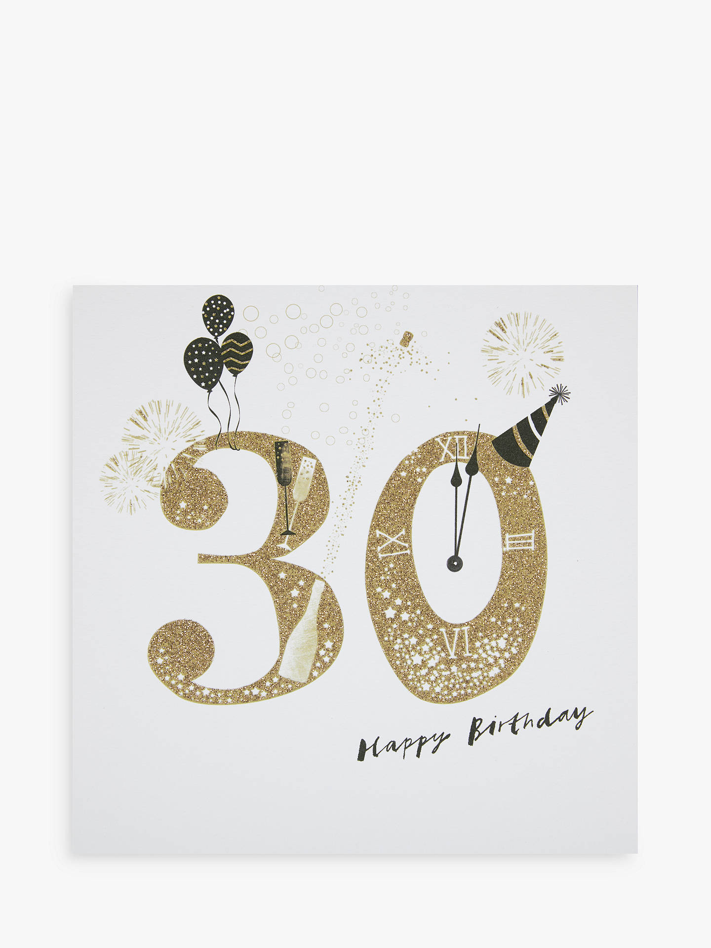 Buy Woodmansterne Party Hat Champagne 30th Birthday Card Online At Johnlewis
