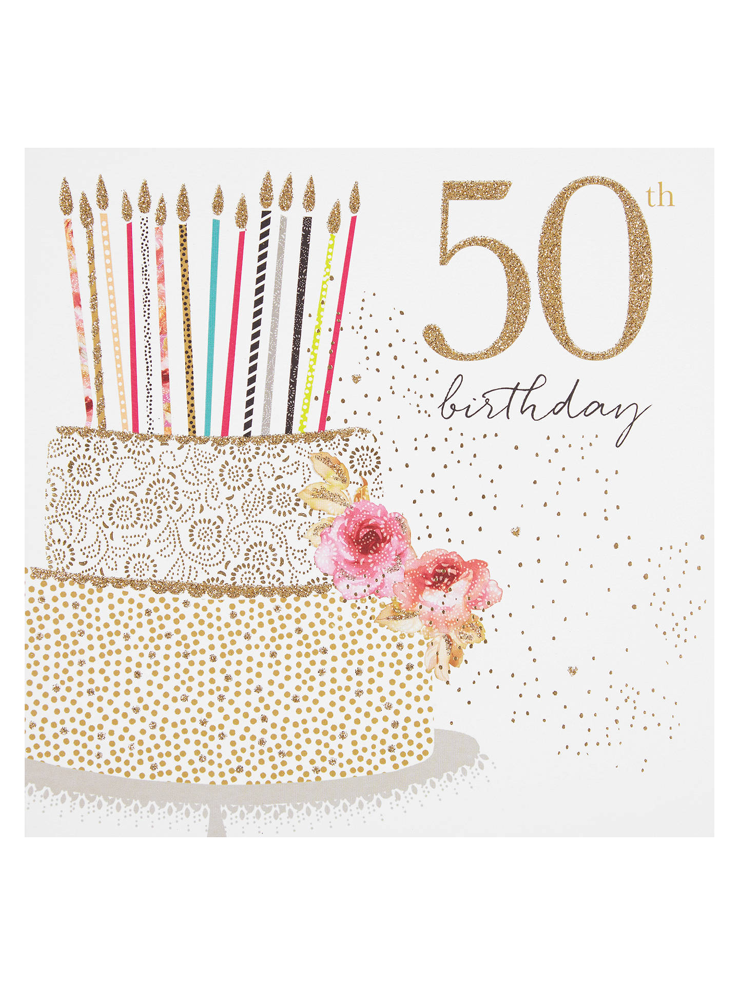 BuyPortfolio Cake 50th Birthday Card Online At Johnlewis