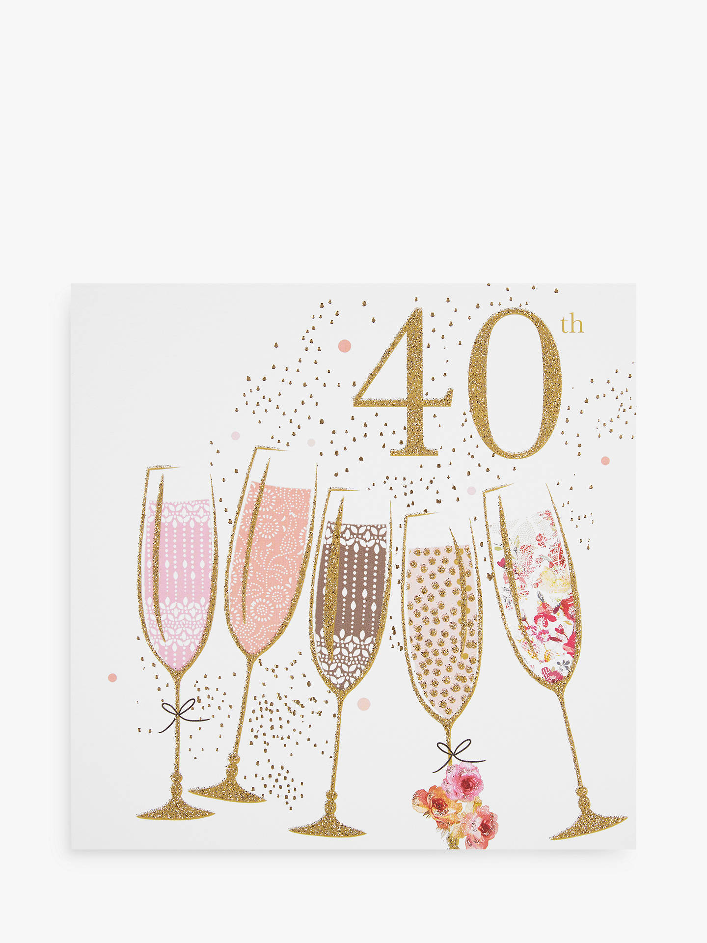 BuyPortfolio Champagne 40th Birthday Card Online At Johnlewis