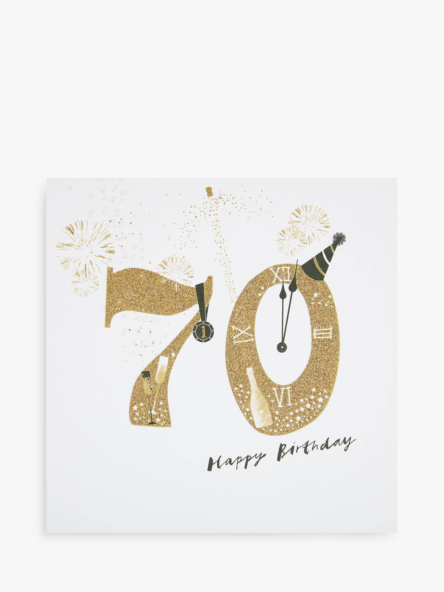 BuyWoodmansterne Champagne Party Hat 70th Birthday Card Online At Johnlewis