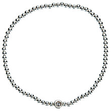 Buy John Lewis Mini Bead and Diamante Stretch Bracelet, Silver Online at johnlewis.com