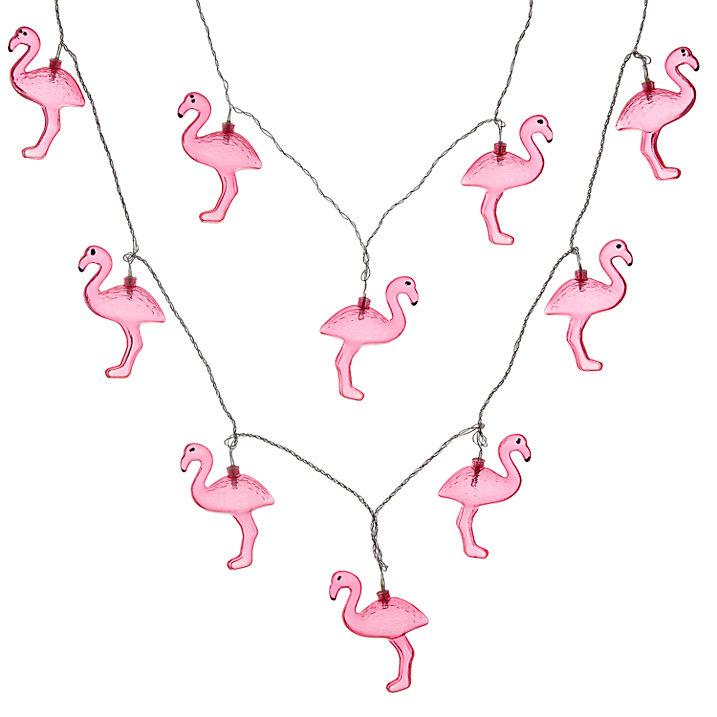 Buy John Lewis Flamingo Line Lights Online at johnlewis.com
