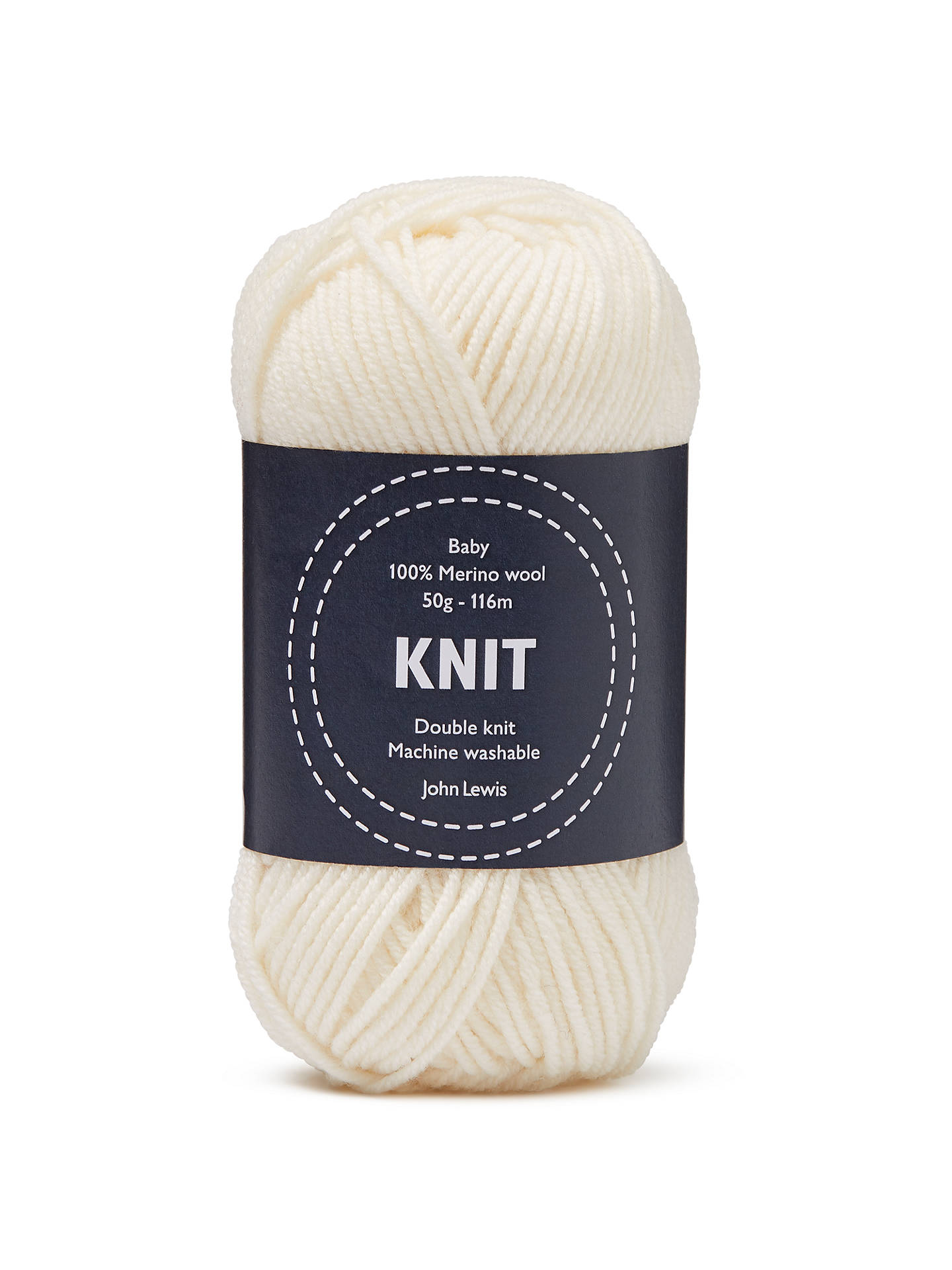 BuyJohn Lewis & Partners Baby Merino Wool DK Yarn, 50g, Cream Online at  johnlewis ...