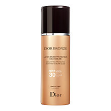 Buy Dior Bronze Beautifying Protective Milk Mist Sublime Glow SPF 30, 125ml Online at johnlewis.com