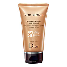 Buy Dior Dior Bronze Beautifying Protective Creme Sublime Glow, SPF30, 50ml Online at johnlewis.com