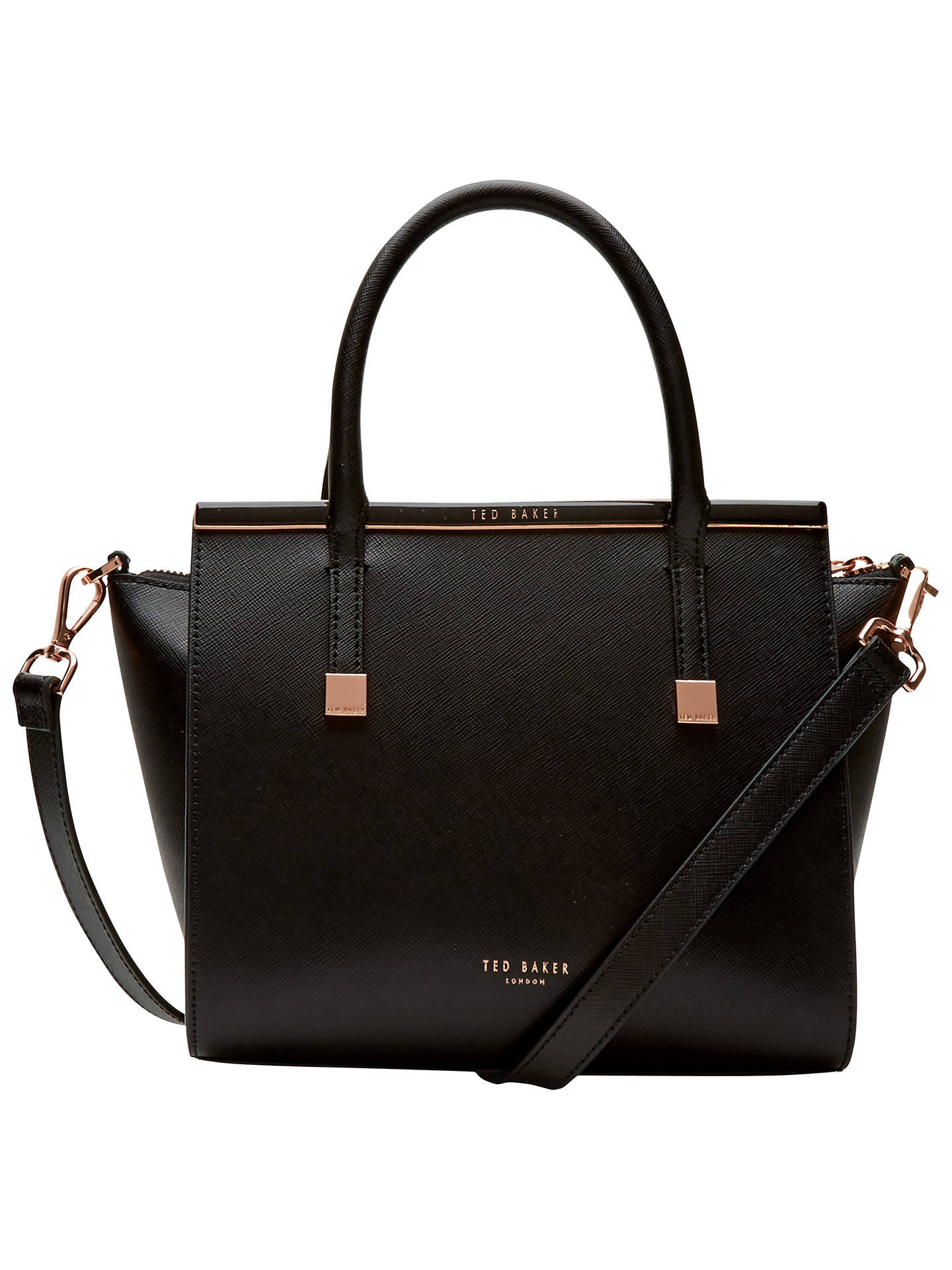 64d9410faa121 Ted Baker Tabatha Crosshatch Leather Tote at John Lewis   Partners
