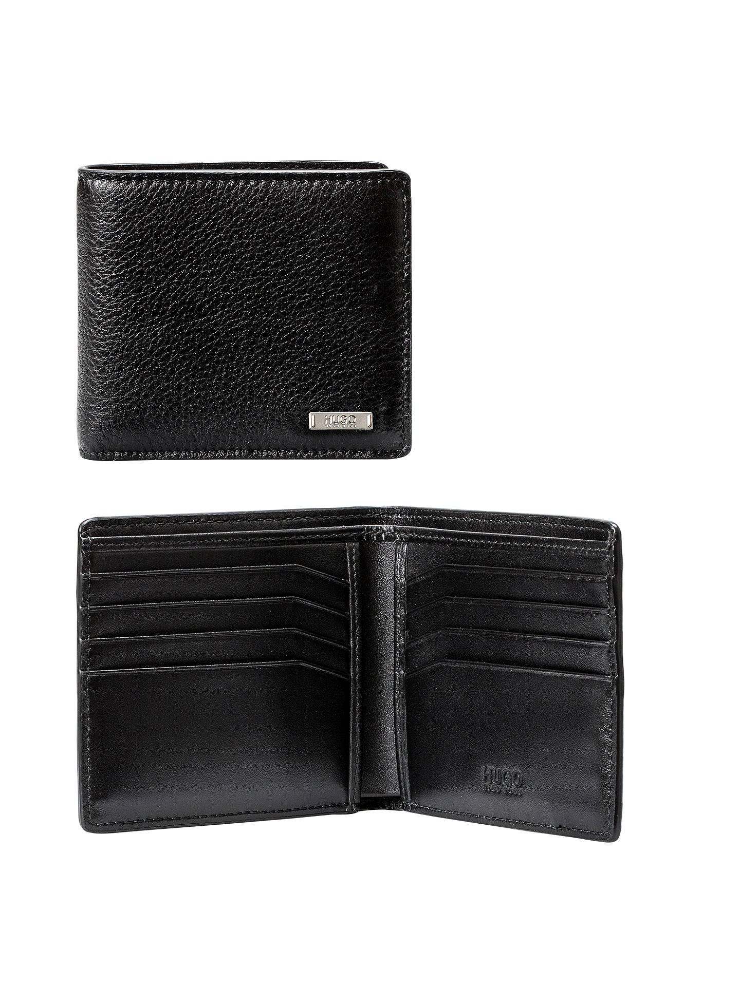 06eb3b0a29e Buy HUGO by Hugo Boss Element Grained Leather 8 Card Wallet, Black Online  at johnlewis ...