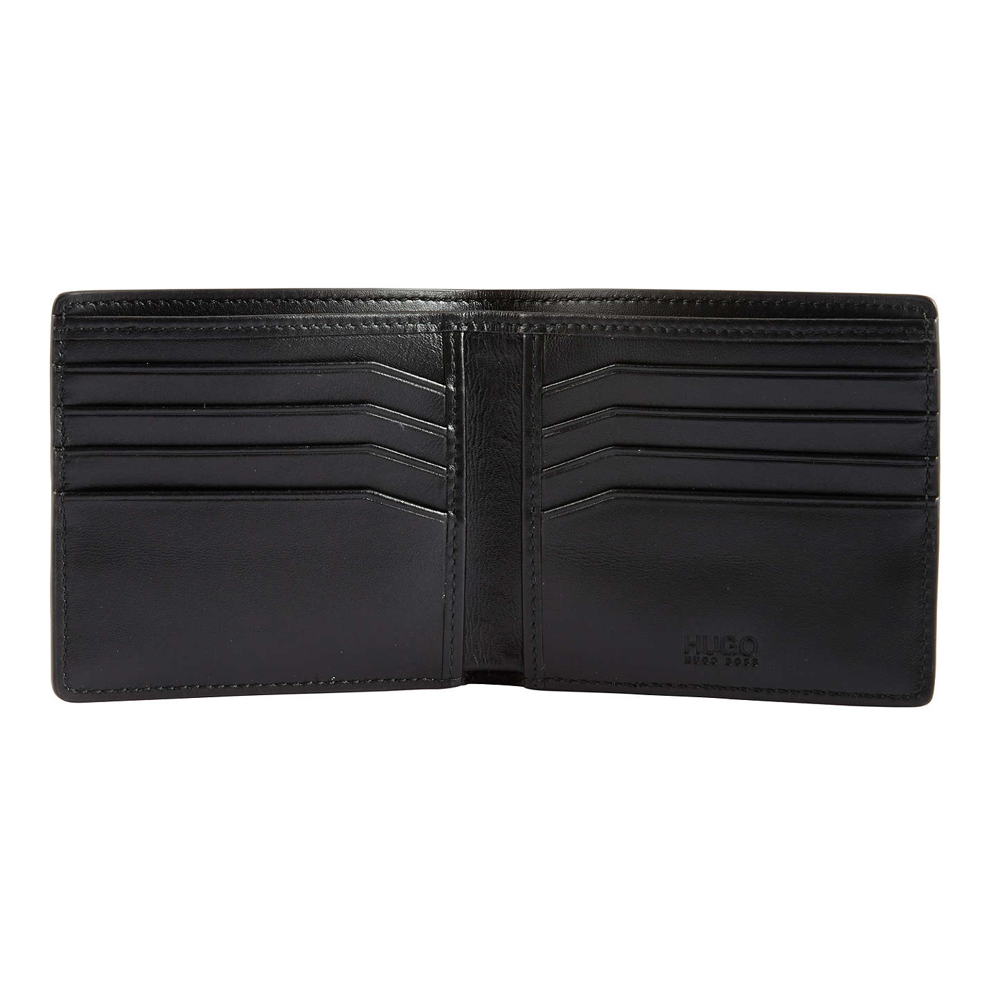 BuyHUGO by Hugo Boss Element Grained Leather 8 Card Wallet, Black Online at johnlewis.com