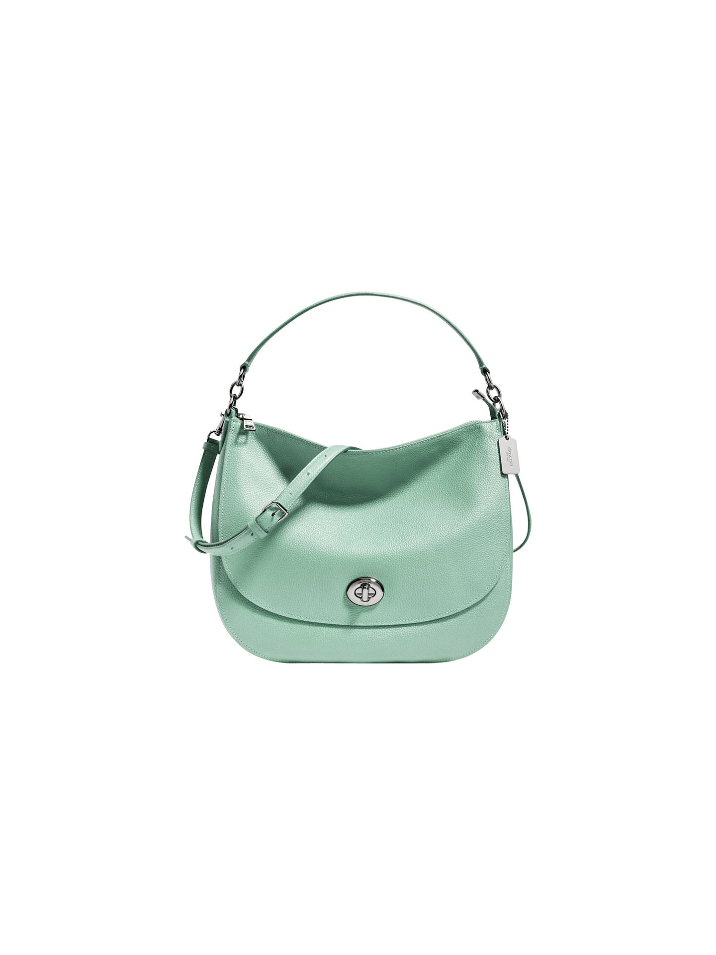 Coach Turnlock Leather Hobo Bag at John Lewis   Partners 33e7089cdab89