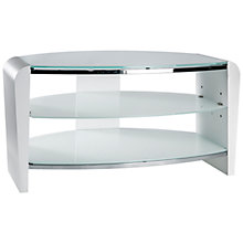 "Buy Alphason Francium 800mm Stand For TVs Up To 37"", Arctic White Online at johnlewis.com"