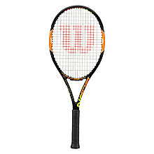 Buy Wilson Burn 100 Team Tennis Racket, Black/Orange Online at johnlewis.com