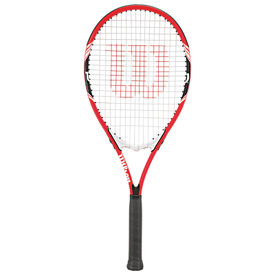 Wilson Federer Aluminium Tennis Racket, Red/White, L3