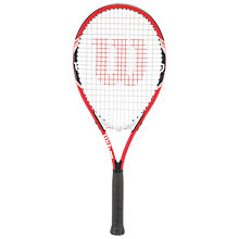 Buy Wilson Federer Aluminium Tennis Racket, Red/White, L3 Online at johnlewis.com