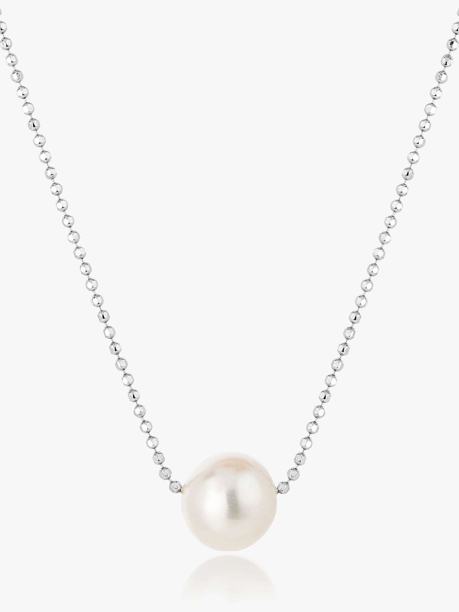 Claudia Bradby Claudia Bradby Essential Moving Freshwater Pearl Chain Necklace, White