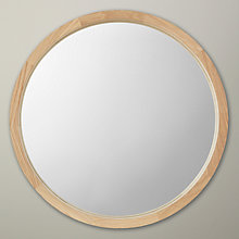 Buy John Lewis Small Round Mirror, Oak Finish, Dia. 46cm Online at johnlewis.com