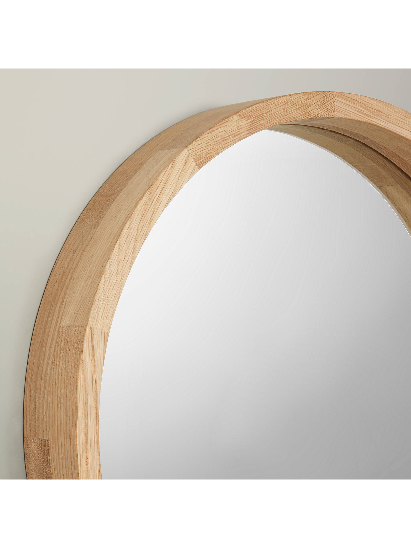 Buy John Lewis & Partners Small Round Mirror, Dia.46cm, Oak Wood Online at johnlewis.com