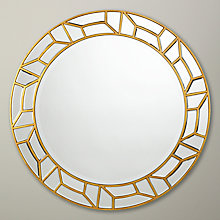 Buy John Lewis Verbier Round Mirror, Gold, Dia. 81cm Online at johnlewis.com