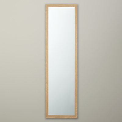 John Lewis The Basics Wood Effect Hall Mirror