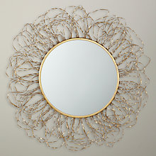 Buy Libra Leaf Seaweed Mirror, Gold, Dia. 96cm Online at johnlewis.com
