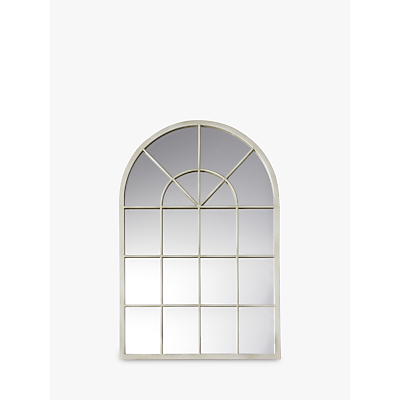 John Lewis Metal Window Mirror, Cream