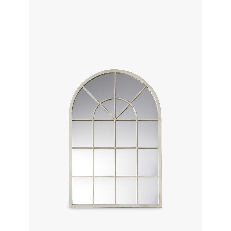 BuyJohn Lewis Metal Window Mirror 90 x 60cm Cream Online at johnlewis.com ... & John Lewis Metal Window Mirror 90 x 60cm Cream at John Lewis
