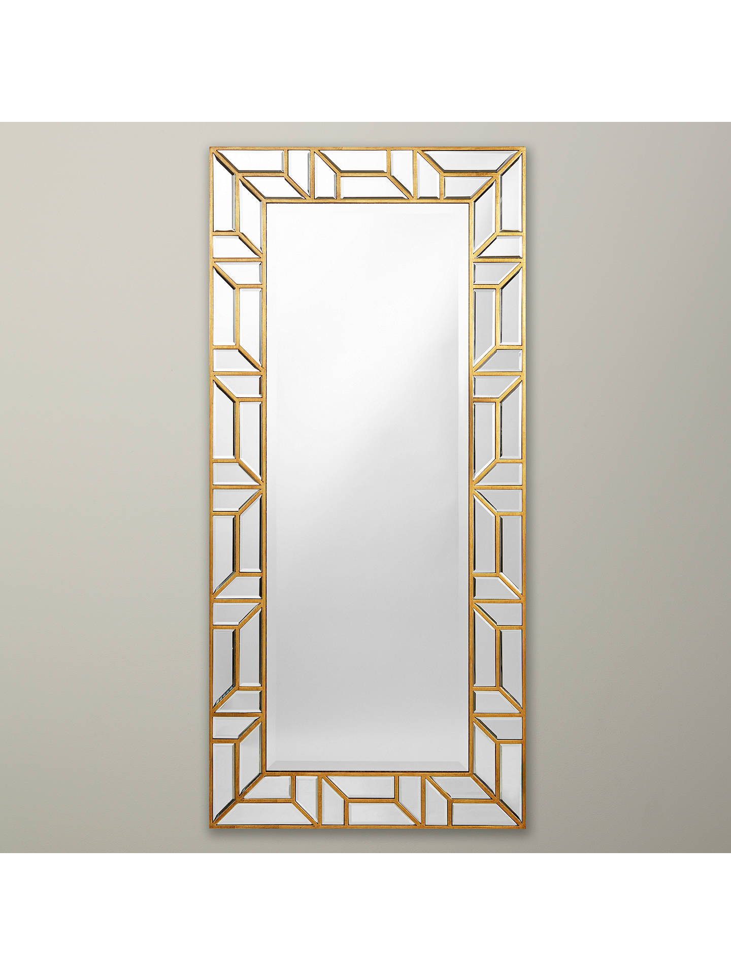 john lewis verbier full length wall mirror gold at john. Black Bedroom Furniture Sets. Home Design Ideas