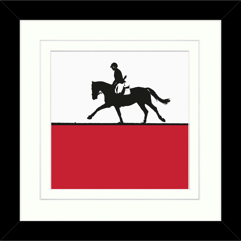 Jacky Al-Samarraie - Horse Riding Framed Print, 34 x 34cm at John Lewis