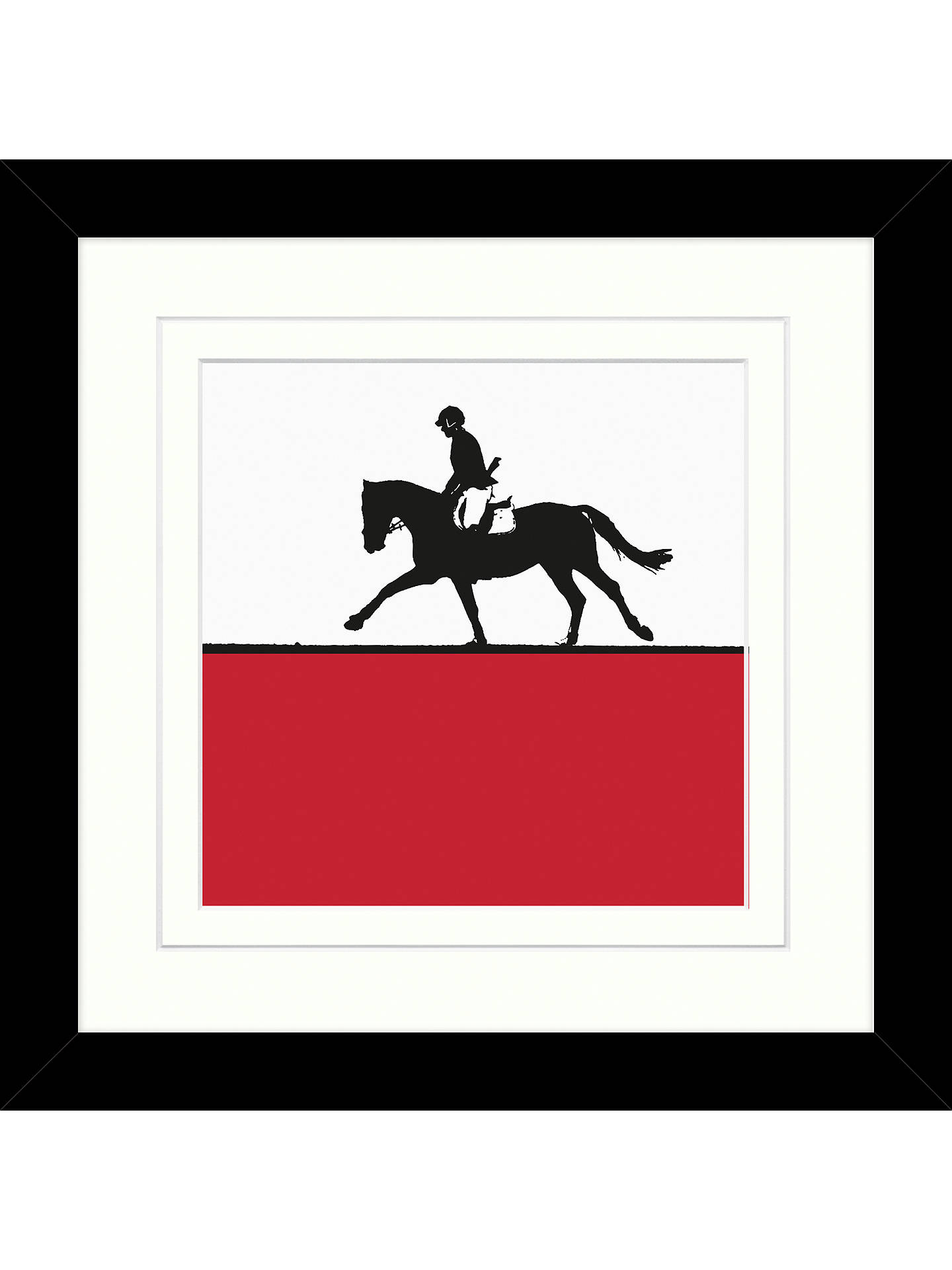 Jacky Al-Samarraie - Horse Riding Framed Print, 34 x 34cm at John ...