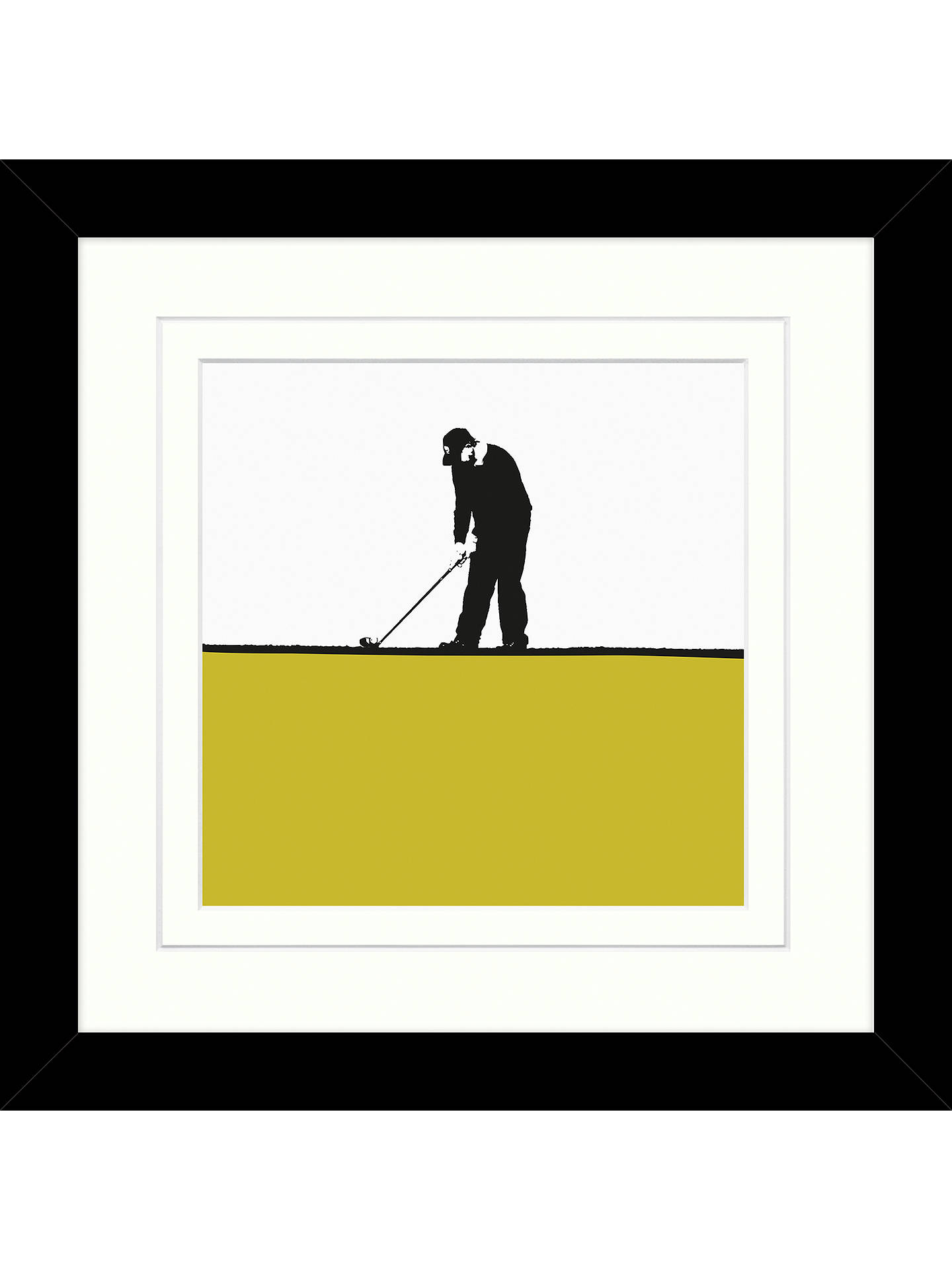 Jacky Al-Samarraie - Golf Framed Print, 34 x 34cm at John Lewis ...