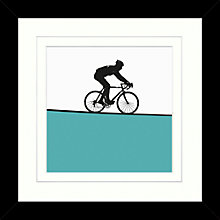 Buy Jacky Al-Samarraie - Cycling Framed Print, 34 x 34cm Online at johnlewis.com