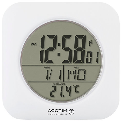 buy acctim bathroom clock wall clock, white  john lewis, Home decor