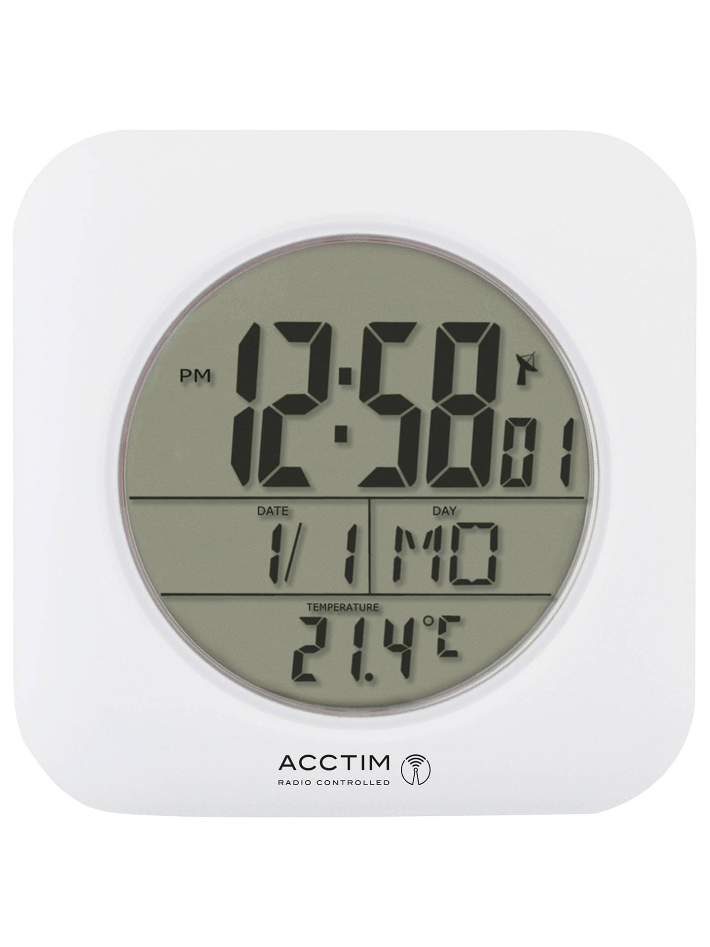 Acctim Bathroom Clock Wall Clock White At John Lewis Partners