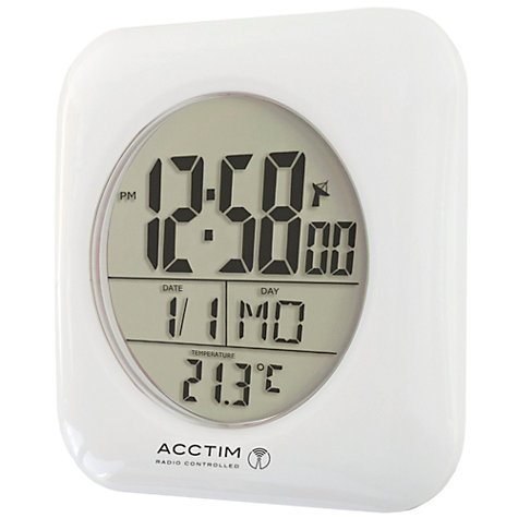 Buy Acctim Bathroom Clock Wall Clock  White Online at johnlewis com. Buy Acctim Bathroom Clock Wall Clock  White   John Lewis