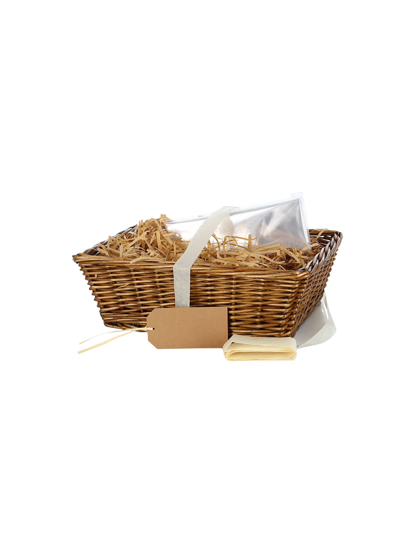 Xmas Christmas Gift Storage Wicker Basket Hamper With Lining Baby Shower Present