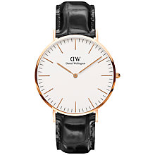 Buy Daniel Wellington Men's Reading Leather Strap Watch Online at johnlewis.com