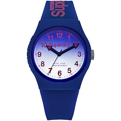 Superdry Unisex Urban Laser Silicone Strap Watch