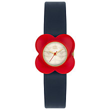 Buy Orla Kiely Women's Poppy Leather Strap Watch Online at johnlewis.com