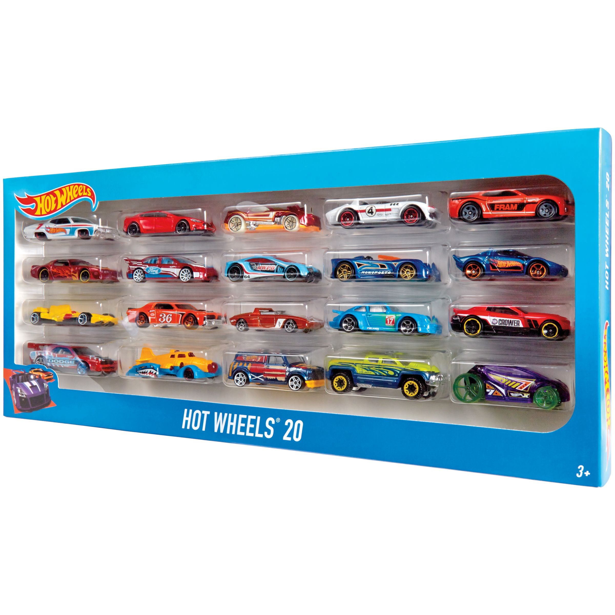 Hot Wheels Hot Wheels Character Cars, Pack of 20, Assorted