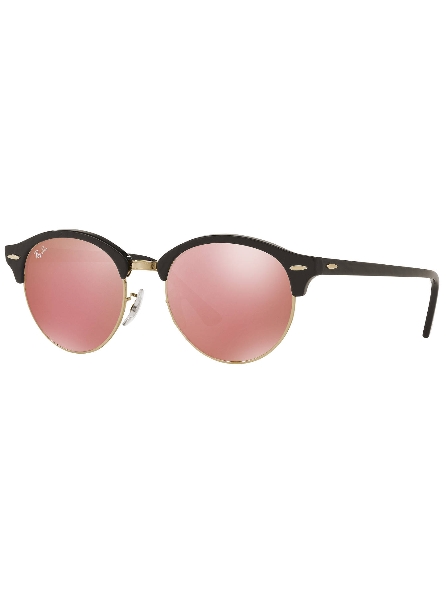 ccb06091e12e Buy Ray-Ban RB4246 Unisex Clubround Round Sunglasses, Black/Cherry Blossom  Online at ...