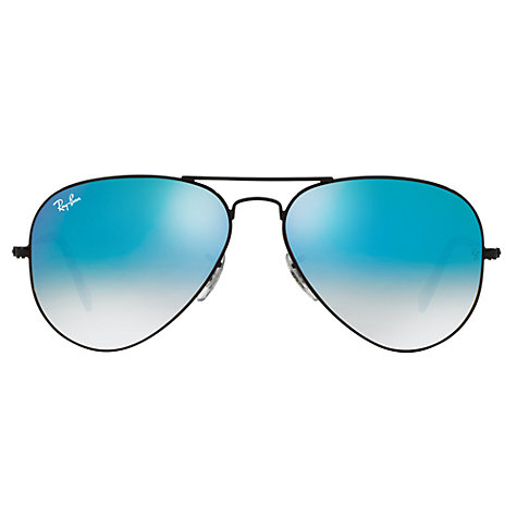 ray ban black mirrored aviators zjsj  Buy Ray-Ban RB3025 Original Aviator Sunglasses, Black/ Mirror Turquoise  Online at johnlewis