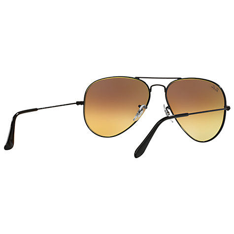 Buy Ray-Ban RB3025 Original Aviator Sunglasses, Black/ Mirror Turquoise Online at johnlewis.com