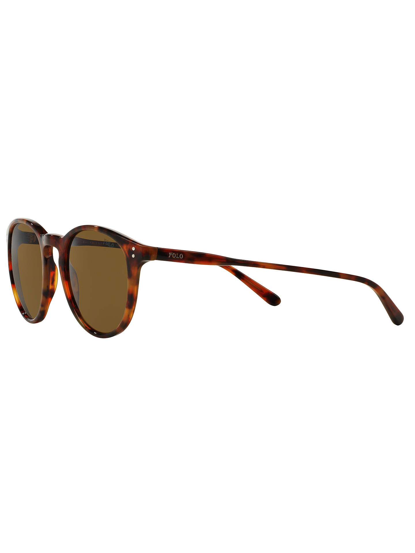 BuyPolo Ralph Lauren PH4110 Men's Oval Sunglasses, Tortoise Online at johnlewis.com