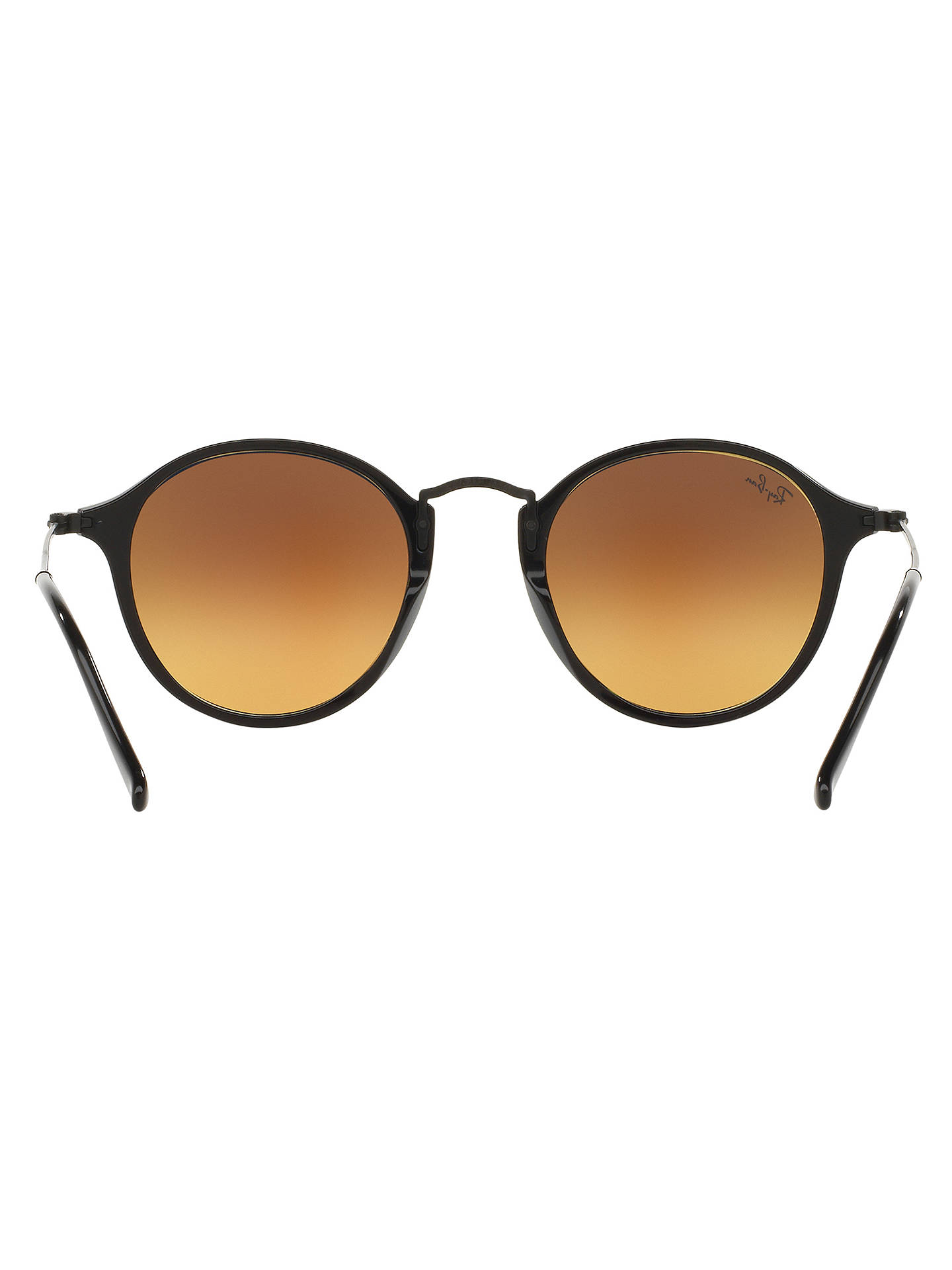 BuyRay-Ban RB2447 Round Fleck Sunglasses, Black/Blue Online at johnlewis.com