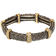 Buy Adele Marie Textured Tube and Crystal Bar Stretch Bracelet Online at johnlewis.com